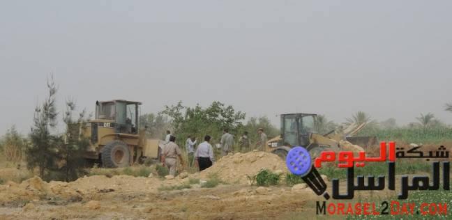 إزالة 702 حالة تعدِ وإشغال طريق في حملة أمنية بمراكز الفيوم