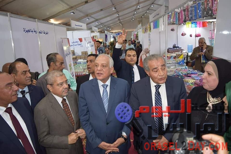 وزير التموين ومحافظ الجيزة يفتتحان معرض الغرفة التجارية لاستقبال المدارس