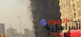 انهيار أجزاء من عقار فيصل المحترق